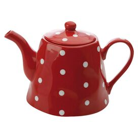 Sprinkle Teapot in Red