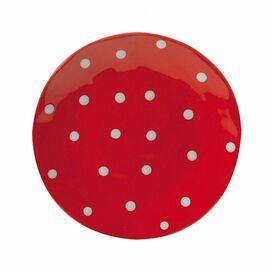 Sprinkle Salad Plate in Red