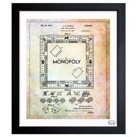 Monopoly Framed Print, Oliver Gal