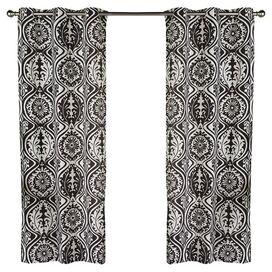 York Curtain Panel in Black (Set of 2)