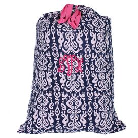 Personalized Ikat Laundry Bag