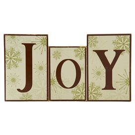 3-Piece Joy Block Decor