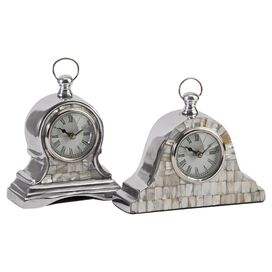 2-Piece Noelle Table Clock Set