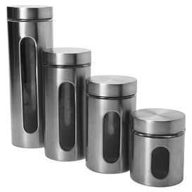 4-Piece Preston Canister Set in Silver
