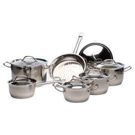 12-Piece Arosa Stainless Steel Cookware Set