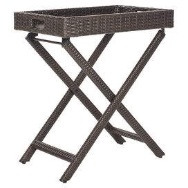 Bardia Rattan Patio Accent Table
