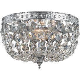 Julia Crystal Flush Mount in Chrome