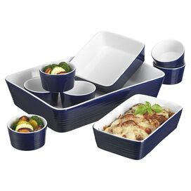 9-Piece Holly Bakeware Set in Blue