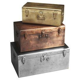 3-Piece Esprit Storage Trunk Set