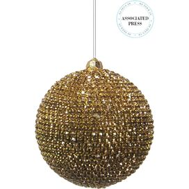 Gold Crystal Ball Ornament