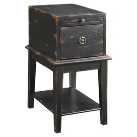 Lillian End Table in Black