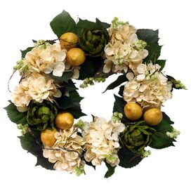 Faux Hydrangea & Fruit Wreath
