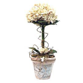 Faux Hydrangea Topiary