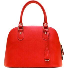 Ragazza Leather Handbag in Red