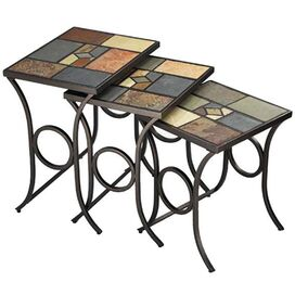 3-Piece Pompeii Nesting Table Set
