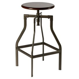 Cyprus Adjustable Height Swivel Bar Stool