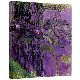 Lavender Water Lilies by Monet Canvas Print