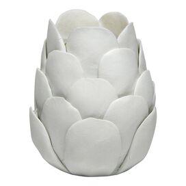 Artichoke Candleholder in White