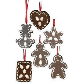 Christian Ulbricht Gingerbread Cookies Ornament (Set of 6)