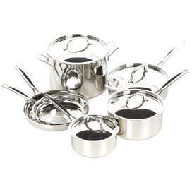 Cuisinart 10-Piece Chef's Classic Stainless Steel Cookware Set