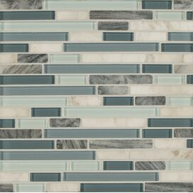 Glass & Natural Stone Mosaic Tile in Marina