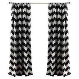 Chevron Rod Pocket Curtain Panel (Set of 2)