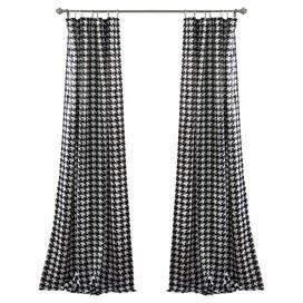 Black & White Rod Pocket Curtain Panel