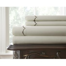 4-Piece Elizabeth Sheet Set in Soft Gray