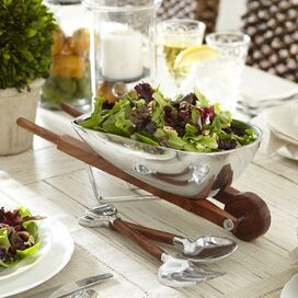 3-Piece Wheelbarrow Salad Bowl & Server Set