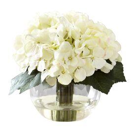 Faux White Hydrangea