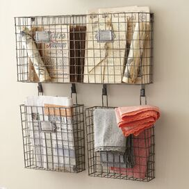 Wire Basket Wall Organizer