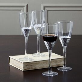 Chauncey Wine Glass in Silver (Set of 4)