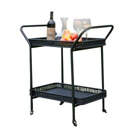 Dale Patio Serving Cart in Black