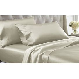 Satin Sheet Set in Ivory