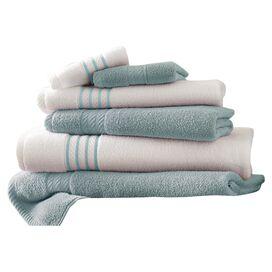 6-Piece Egyptian Cotton Striped Towel Set