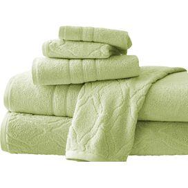 6-Piece Jacquard Egyptian Cotton Towel Set in Sage