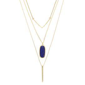 Idara Necklace in Blue