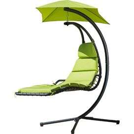 Harper Hanging Patio Chaise in Green