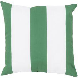 Ronnie Indoor/Outdoor Pillow in Navy & Ivory