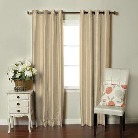 Fortune Faux Dupioni Silk Lined Single Curtain Panel