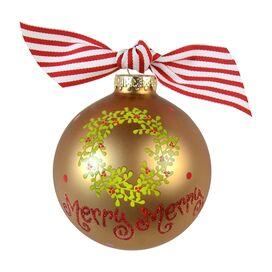 Merry Merry Boxwood Wreath Ornament