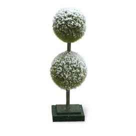Faux Evergreen Double Ball Topiary