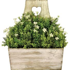 Faux Brown & Green Boxwood