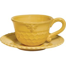 2-Piece Honeycomb Teacup & Saucer Set