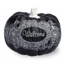 Welcome Pumpkin Decor
