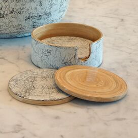 Bamboo & Inlaid Eggshell Coaster (Set of 5)
