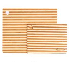 2-Piece Strio Bamboo Cutting Board Set