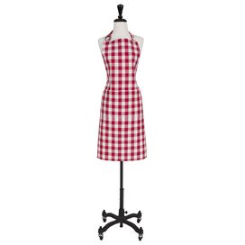 Gingham Check Apron