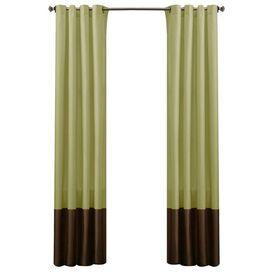 Faux Silk Grommet Curtain Panel (Set of 2)