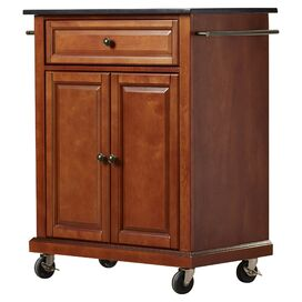 Woodrow Kitchen Cart with Granite Top